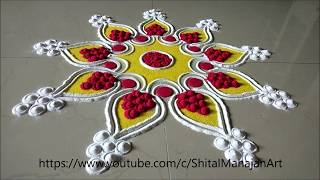 Download Top Rangolis by Shital Mahajan|Easy Rangoli Designs|Muggulu|Kolam Video