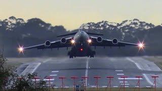 Download INCREDIBLE RAAF Boeing C-17 Globemaster HEAD-ON Takeoff ● Melbourne Airport Plane Spotting Video