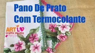 Download Pano de prato Com Termocolante - Tea Towel With iron On Vinyl E 30 Video