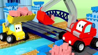 Download The Bridge across the River - Tiny Trucks for Kids with Street Vehicles Bulldozer, Excavator & Crane Video