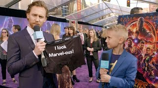 Download Kid Movie Expert Britton Walker Goes to the 'Avengers: Infinity War' Premiere Video