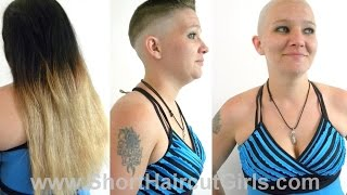 Download Long to Bald in Stages ShortHaircutGirls Video
