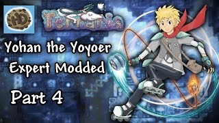 Download Terraria 1.3.1 Expert Modded Yoyo Let's Play Part 4 | Eater of Worlds & Yoyo Base! Video