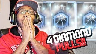 Download NBA 2k17 MyTeam GREATEST Pack Opening Ever! 4 Diamond Pulls Back to Back!! New Lockdown Boxes! Video