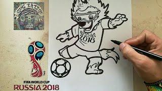 Download COMO DIBUJAR A ZABIVAKA -RUSSIA 2018 / how to draw zabivaka - russia 2018 Video