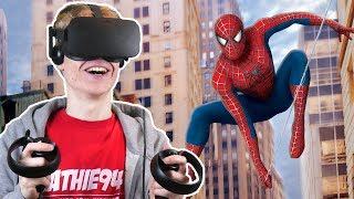 Download SPIDER-MAN SIMULATOR IN VIRTUAL REALITY! | Spider-Man: Homecoming VR (Oculus Touch Gameplay) Video
