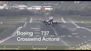 Download Boeing 737 Ryanair Crosswind actions during severe storm at Birmingham Airport Video