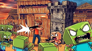 Download Minecraft | Who's Your Daddy? Zombie Horde Attacks Bunker! (BABIES LAST STAND) Video