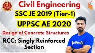 Download 10:00 PM - SSC JE 2019 (Tier-I) | Civil Engg by Sandeep Sir | RCC: Singly Reinforced Section Video
