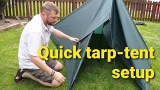 Download Quick Tarp Tent for moderate wind and rain conditions Video