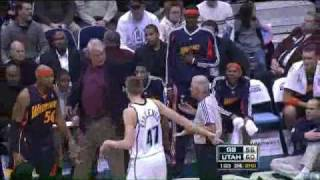 Download Fan blows whistle from the stands giving the Jazz an easy dunk! Video