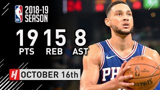 Download Ben Simmons Full Highlights vs Celtics 2018.10.16 - 19 Pts, 15 Reb, 8 Assists Video