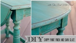 Download How to get a chippy furniture Finish with Milk Paint and Dark Glaze Video
