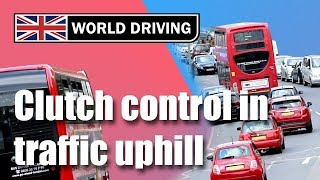 Download Clutch control in traffic uphill - learning to drive a manual / stick shift car Video
