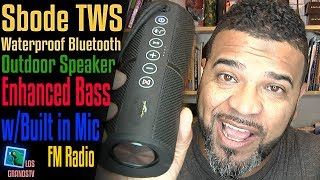 Download Sbode Bluetooth Portable TWS Wireless Speakers with FM Radio 🔊 ⚡ 🔊 : LGTV Review Video