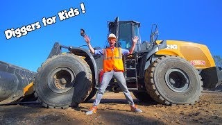 Download Diggers for Kids with Blippi | The Wheel Loader Construction Truck Video