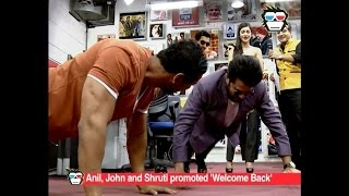 Download Anil Kapoor beats John Abraham in push ups during 'Welcome Back' promotion Video
