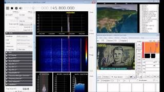 Download SSTV from the ISS International Space Station with RTL2832U + R820T SDR# SDRSharp 145.800 MHz FM Video