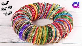 Download Best out of waste Bangles crafts idea | How to reuse old bangles | Artkala Video