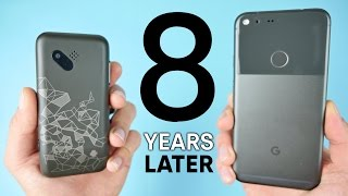 Download First Android Phone vs Google Pixel! 8 Year Comparison Video