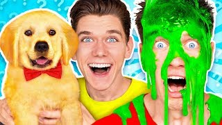 Download Dogs Pick our Mystery Slime Challenge! Learn How To Make the Best DIY Funny Switch Up Oobleck Game Video