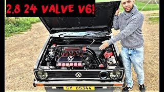 Download This VR6 Swapped VW MK1 Golf is incredible! Video