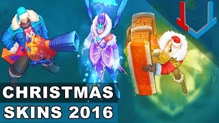 Download All Christmas Skins 2016: Santa Braum, Snow Day Graves, Winter Wonder Karma (League of Legends) Video