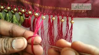 Download Saree Kuchu/tassel using small plain beads- simple tips for beginers Video