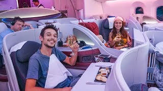 Download FANTASTİK Business Class VIP Deneyimimiz! - Qatar Airways Boeing 787-8 Dreamliner İncelemesi Video
