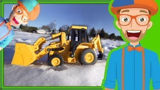 Download Fun in the Snow with Blippi Plush Doll and Backhoe Digger Video