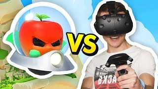Download DEFEND THE EARTH FROM ALIEN FRUIT ATTACK (Fruit Attacks VR Funny Gameplay HTC Vive) Video