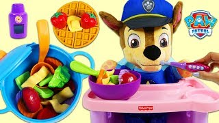 Download Feeding Baby Chase Pretend Homemade Soup and Waffles! Video