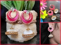 Download Make Silk thread jhumka chandbali earrings at home Video