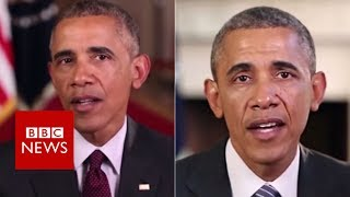 Download Fake Obama created using AI video tool - BBC News Video