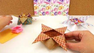 Download Origami Star Box falten | Weihnachtsdeko Stern | Aufbewahrung für Süßigkeiten | 3D Origami Video