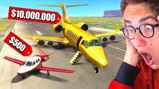 Download $500 Private Jet VS. $10,000,000 Private Jet In GTA 5! Video