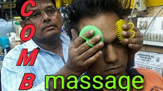 Download Intense Asmr comb head massage by old school barber Video