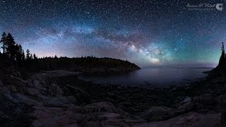 Download Milky Way over Hunter's Beach, 360° timelapse video Video