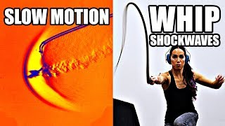Download How does a whip break the sound barrier? (Slow Motion Shockwave formation) - Smarter Every Day 207 Video