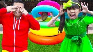 Download Peek A Boo Song | Emma Pretend Play Hide and Seek Sing-Along Nursery Rhymes Songs Video