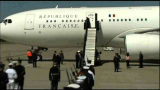 Download French President Francois Hollande plane landing in u.s. Video