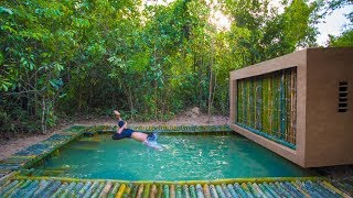 Download Building the Most Stunning Bamboo Jungle House Swimming Pool by Ancient Skills Video