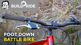 Download Playing Foot Down on my Battle Bike | Build and Ride Video