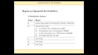 Download Lateinische Verse skandieren: Regeln zu Längen und Kürzen (u. a. Naturlänge, Positionslänge) Video