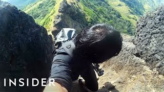 Download Hike At An 80-Degree Incline To A Hidden Fort Video