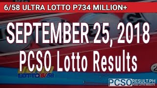Download PCSO Lotto Results Today September 25, 2018 (6/58, 6/49, 6/42, 6D, Swertres, STL & EZ2) Video