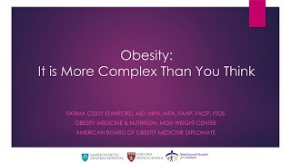 Download Obesity: It's More Complex than You Think | Fatima Cody Stanford || Radcliffe Institute Video