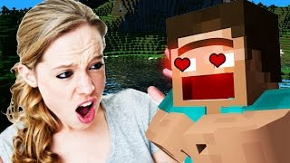 Download GIRL LOSES HER MIND ON MINECRAFT! (Minecraft Trolling) Video