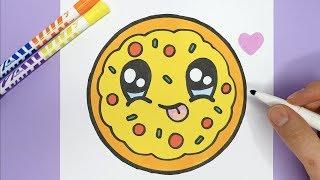Download Kawaii PIZZA zeichnen und malen - Kawaii Bilder Video
