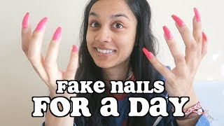 Download i wore fake nails for 24 hours | clickfortaz Video
